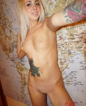 Skinny blonde geography expert Ameliya nude pics